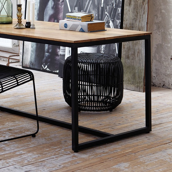 modern-stool-rattan-and-iron-by-house-doctor