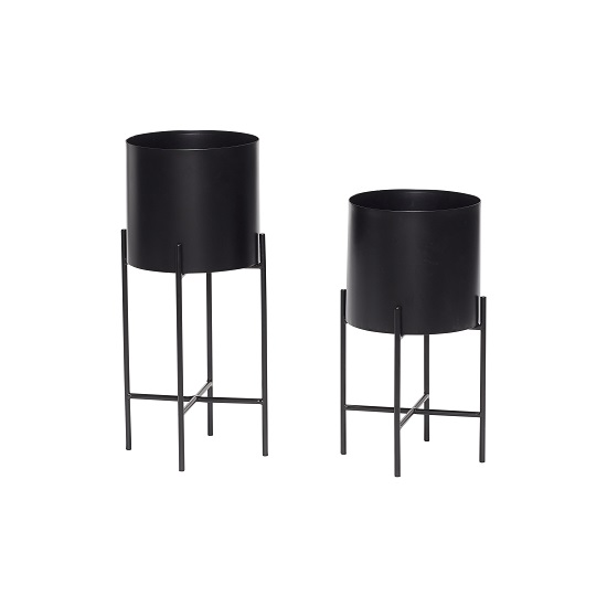 set-2-metal-black-pot-plant-stand-hubsch