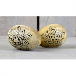 set-of-2-mango-wood-easter-egg-decoration-with-black-pattern-by-ib-laursen
