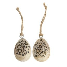 set-of-2-small-hanging-mango-easter-egg-with-black-pattern-by-ib-laursen