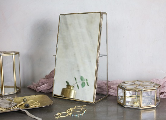 Elegant Bequai Mirror Cabinet Glass Box With A Display For a Jewellery by Nkuku