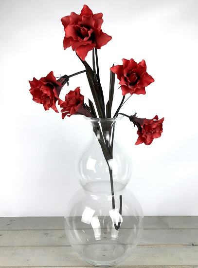 handmade-contemporary-clear-flower-glass-vase-bunch-bouquet-tall-51cm