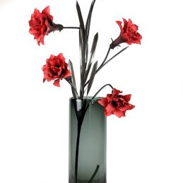 handmade-black-glass-cylinder-vase-flowers-tall-50cm