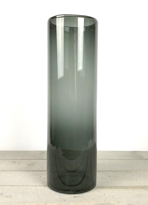 handmade-black-glass-cylinder-vase-flowers-tall-50cm