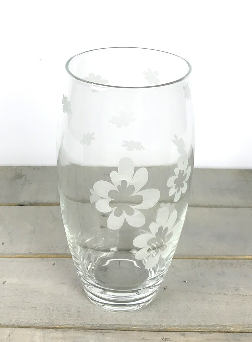 clear-decorated-glass-vase-mouth-blown-flower-bunch-bouquet-tall-30-cm
