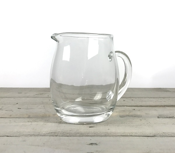 Small Handmade Clear Glass Jug Pitcher Water Wine Juice