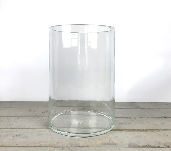 large mouthblown clear glass cylinder vase tall 36 cm. Black Bedroom Furniture Sets. Home Design Ideas