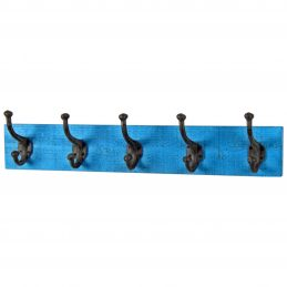 wall-mounted-coat-5-double-hooks-blue-plaque-wooden-orginals