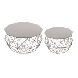 set-of-2-grey-decagon-sided-wire-wood-side-tables-by-tobs