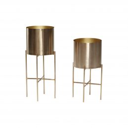 set-of-2-metal-brass-pot-plant-on-stand-by-hubsch