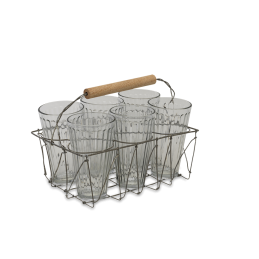 agar-large-glass-tea-set-in-wire-metal-basket-holder-crate-by-nkuku