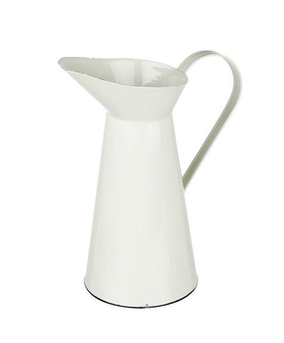 enamel-cream-display-jug-pitcher-hedley-tall-30-cm-by-parlane