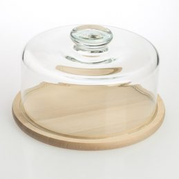 cheese-or-cake-dome-27-5-cm-x-16-5-cm-with-wooden-serving-cutting-board
