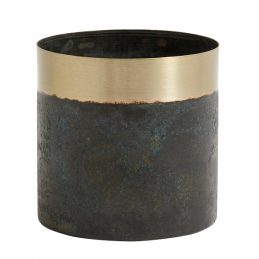 small-stunningly-elegant-planter-greenish-patina-brass-by-nordal
