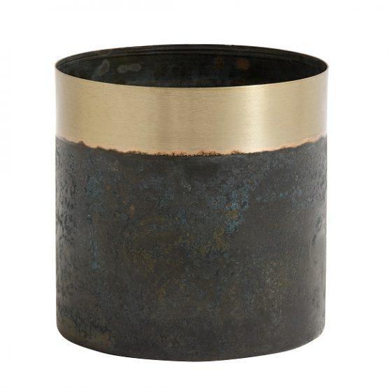 small-stunningly-elegant-planter-greenish-patina-brass-by-nordal