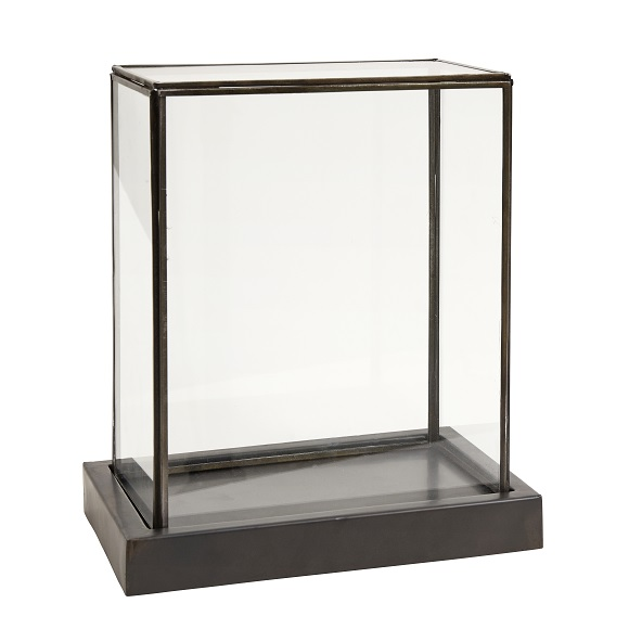 Small Glass Display Showcase Box With Metal Base Frame by Nordal | eBay