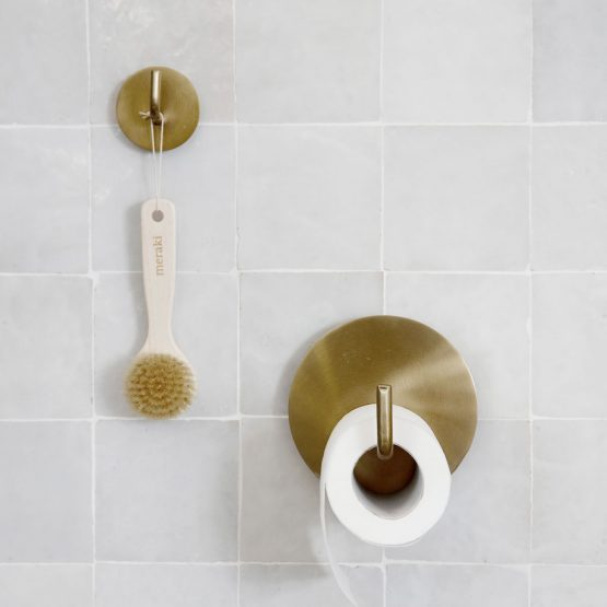 Striking Modern Toilet Paper Holder Made Of Brass Iron From House Doctor