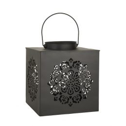 large-black-lantern-square-pattern-punched-29-cm-by-ib-laursen
