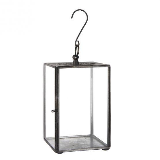 glass-metal-black-hanging-lantern-flat-top-with-pattern-17-cm-by-ib-laursen