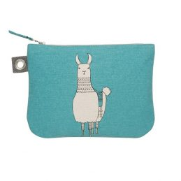 large-teal-zipper-pouch-with-a-lama-design-by-cubic