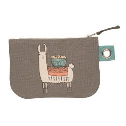 DA0065 Llamarama Small Zipper Pouch – B