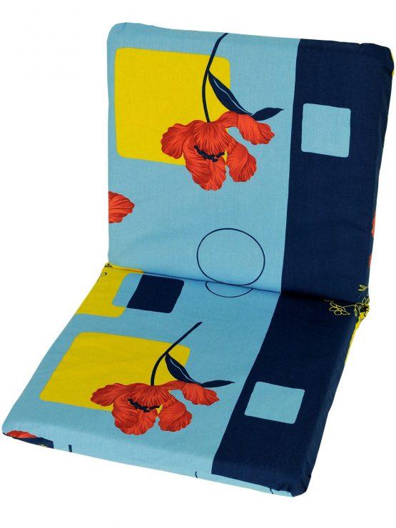 garden-chair-cushion-pad-replacement-100-cotton-109-cm-x-45-cm-poppy-flowers