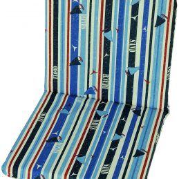 garden-chair-cushion-pad-replacement-100-cotton-88-cm-x-45-cm-blue-stripies-surfing