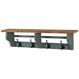 rustic-wall-mounted-wooden-shelf-with-4-metal-hooks