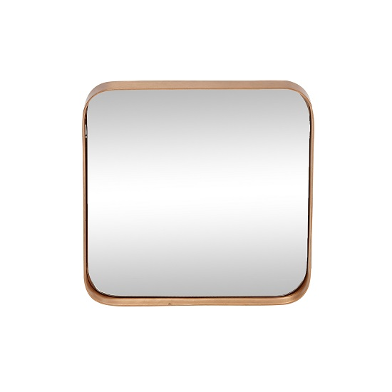 Small Square Mirror With Copper Frame by Hubsch