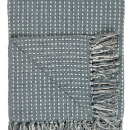 100-cotton-throw-dusty-blue-with-cream-rectangular-pattern-by-ib-laursen