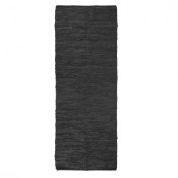 black-leather-rug-80-x-200-cm-by-ib-laursen