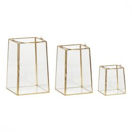 brass-and-glass-lantern-set-of-3-tealight-pillar-candle-by-hubsch