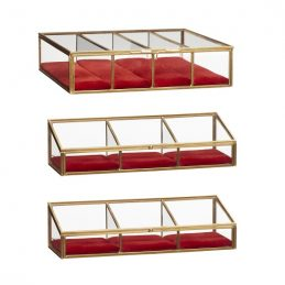 brass-and-glass-with-velvet-red-base-display-jewellery-box-set-of-3-by-hubsch