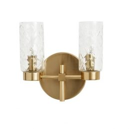 golden-wall-lamp-with-2-glass-cylinders-by-nordal