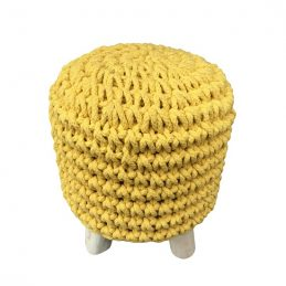 round-yellow-knitted-pouffe-padded-footstool-by-home-interiors