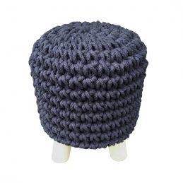 round-black-knitted-pouffe-padded-footstool-by-home-interiors