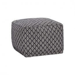 square-cotton-pouffe-in-white-and-black-pattern-danish-design-by-hubsch