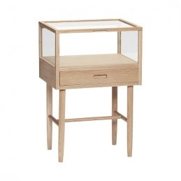 oak-glass-display-storage-on-stand-with-drawer-75-cm-by-hubsch