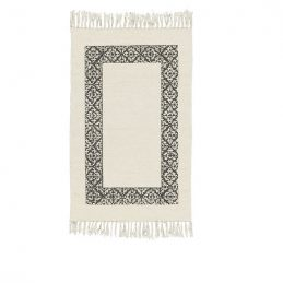 white-rug-with-black-frame-100-cotton-by-ib-laursen
