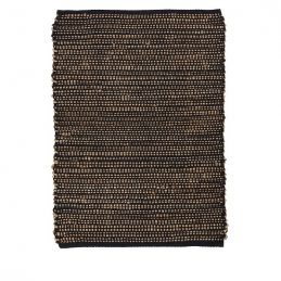 black-rug-cotton-jute-90-cm-by-ib-laursen