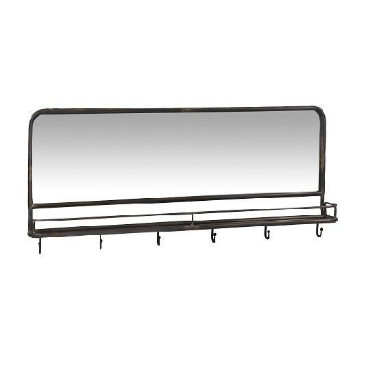 black-coat-rack-with-mirror-6-hooks-by-ib-laursen