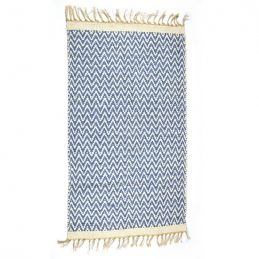 dark-blue-jute-recycled-cotton-reversible-rug-70-x-115-cm-by-indra