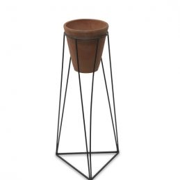 large-geometric-design-jara-terracotta-planter-with-stand-by-nkuku