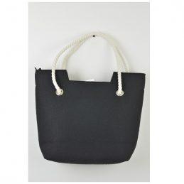 hand-made-felt-shoulder-hand-bag-black-with-the-rope-handle
