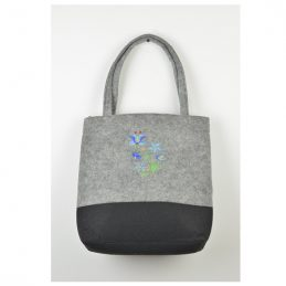 hand-made-felt-shoulder-hand-bag-black-grey-with-flowers-pattern