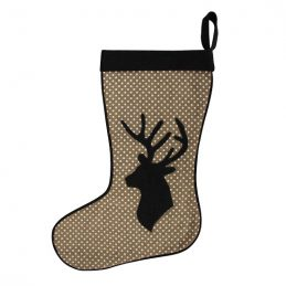 christmas-stocking-sack-with-black-reindeer-66-cm-by-home-interiors