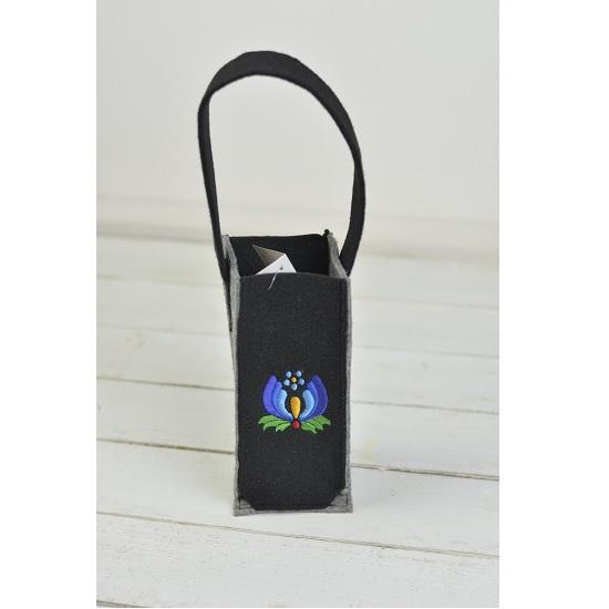 felt-wine-bottle-holder-bag-grey-black