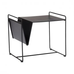 black-metal-side-table-with-magazine-holder-by-hubsch