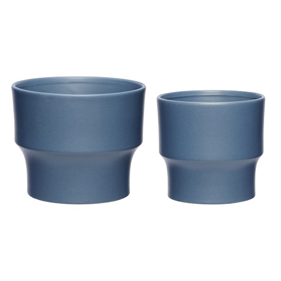 set-of-2-blue-ceramics-pot-danish-design-by-hubsch