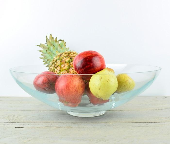 Handmade Large Classic Clear Glass Bowl Trifles Fruit Salad 36 Cm